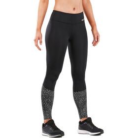 2XU Reflect Run Mid Tights Women black/silver glo reflective